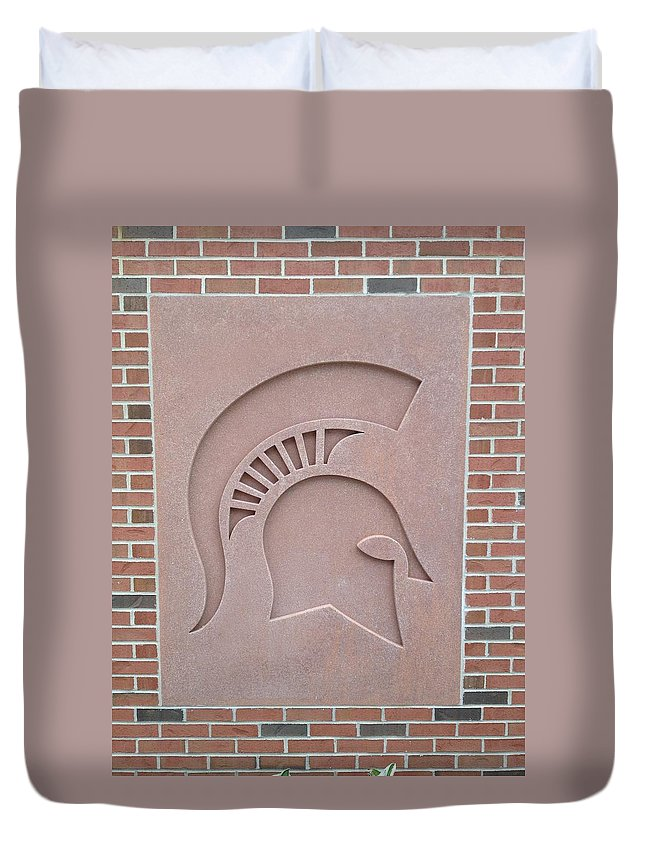 Atchitecture Duvet Cover featuring the photograph Brick by Joseph Yarbrough