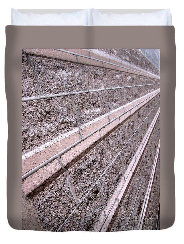 Brick Duvet Cover featuring the photograph Brick Rays by Ausra Huntington nee Paulauskaite