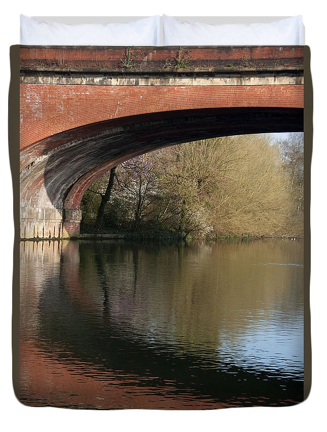 2011 Duvet Cover featuring the photograph Bridge Reflections by Andrew Michael