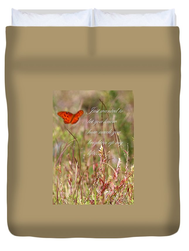 Card Duvet Cover featuring the photograph Brighten Up My Life Card by Travis Truelove