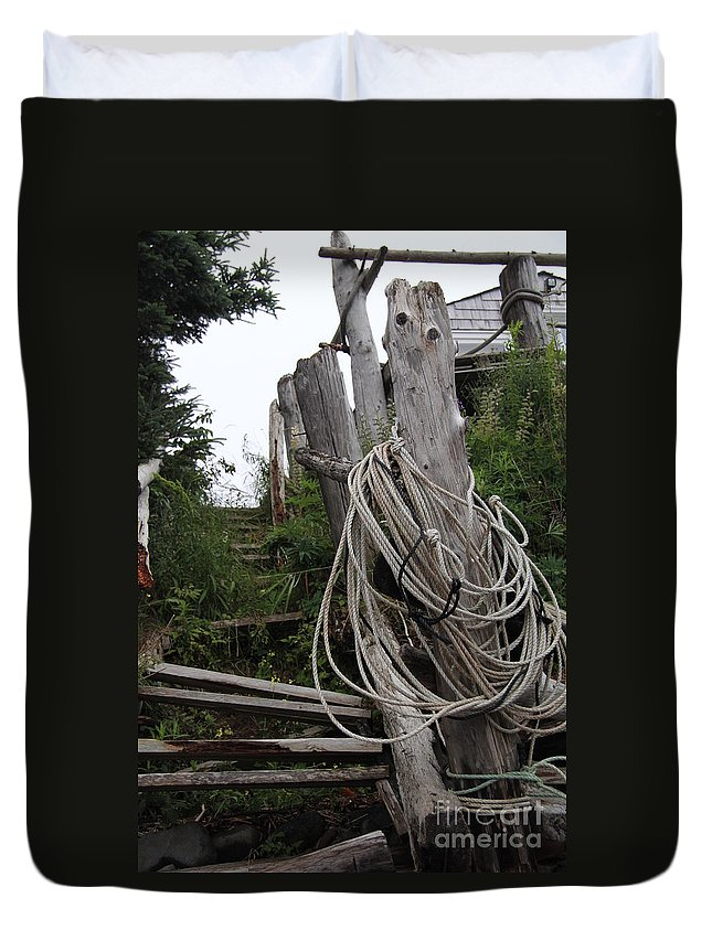 Broken Duvet Cover featuring the photograph Broken And Beaten by Diane Greco-Lesser