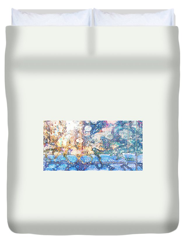 Abstract Duvet Cover featuring the photograph Bubbles Abstract by Debbie Portwood