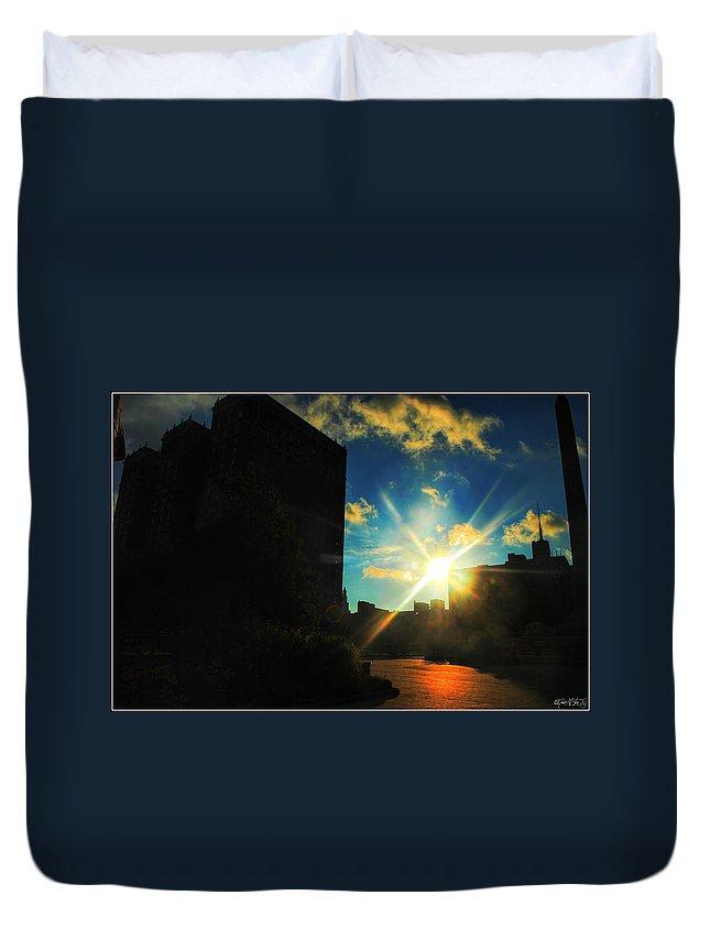 Duvet Cover featuring the photograph Buffalo Ny Awakening by Michael Frank Jr