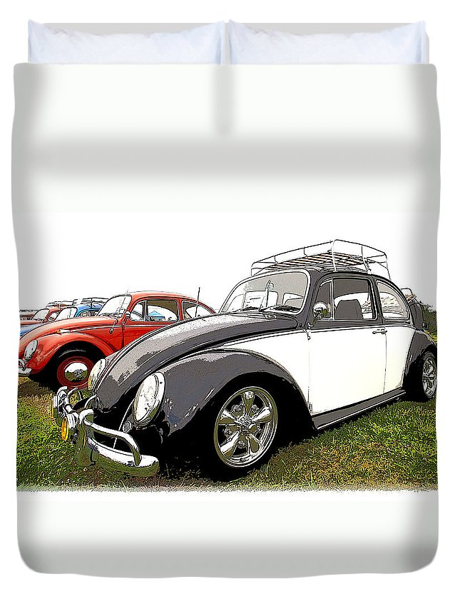 Vw Duvet Cover featuring the photograph Bug Show by Steve McKinzie
