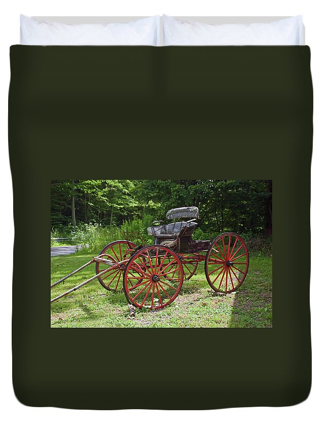 Farm Related Duvet Cover featuring the photograph Buggy 11628 by Guy Whiteley
