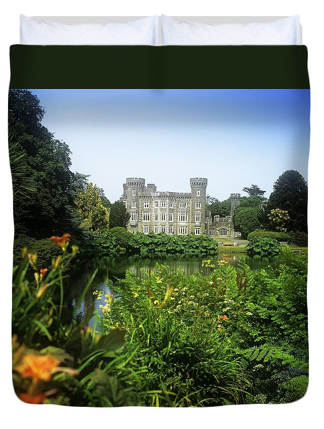 Building Exterior Duvet Cover featuring the photograph Building Structure In A Garden by The Irish Image Collection