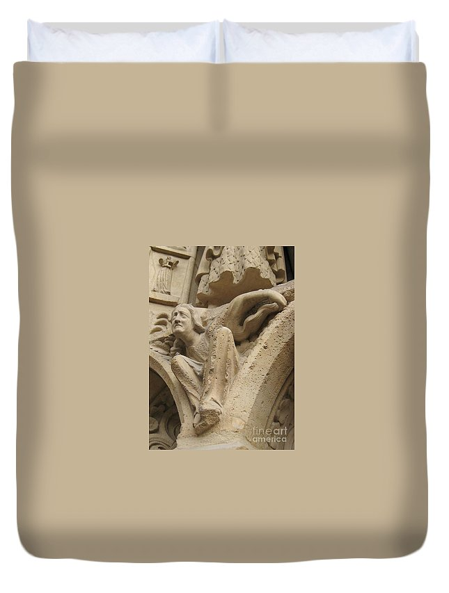 Devil Duvet Cover featuring the photograph Burden Two by John Malone