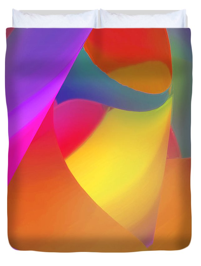 Abstract Duvet Cover featuring the digital art Burgee by ME Kozdron