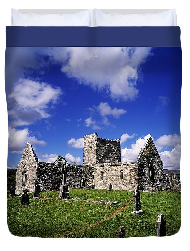 Archeology Duvet Cover featuring the photograph Burrishoole Friary, Co Mayo, Ireland by The Irish Image Collection