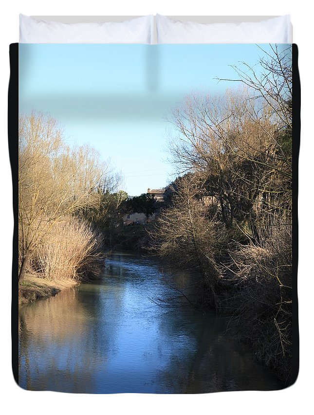 River Duvet Cover featuring the photograph By The River by Francesco Scali