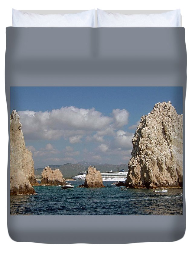 Mexico Duvet Cover featuring the photograph Cabo San Lucas by Gary Wonning