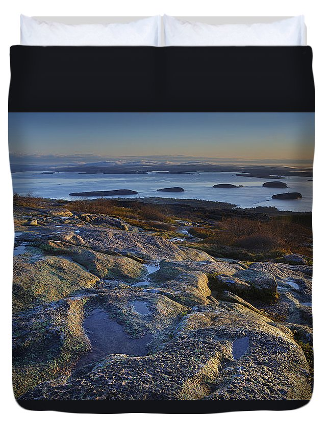 Maine Duvet Cover featuring the photograph Cadillac Mountain And Frenchman's Bay by Rick Berk