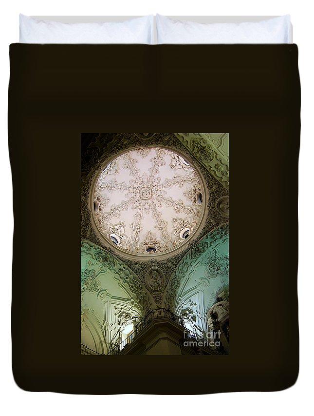Cadiz Duvet Cover featuring the photograph Cadiz Spain Church by Eva Kaufman