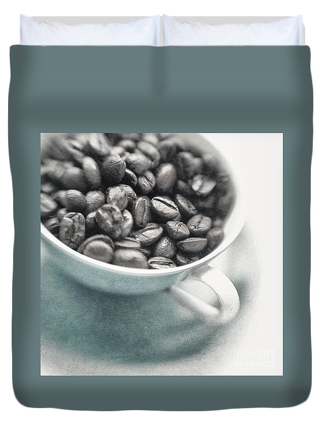 Caffeine Duvet Cover featuring the photograph Caffeine by Priska Wettstein