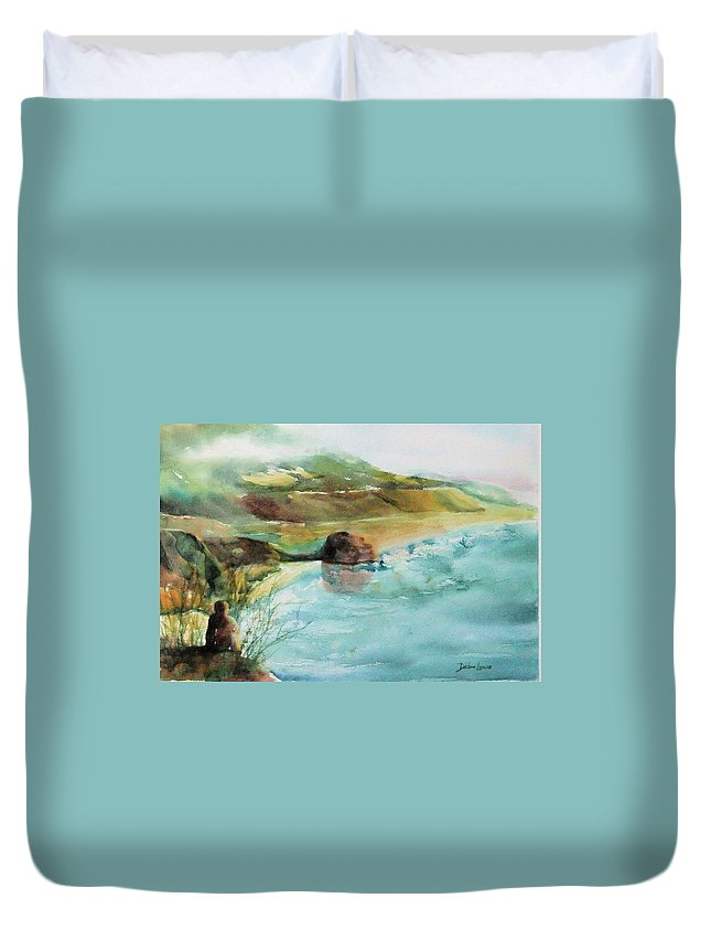 Watercolor Duvet Cover featuring the painting California Dreaming by Debbie Lewis