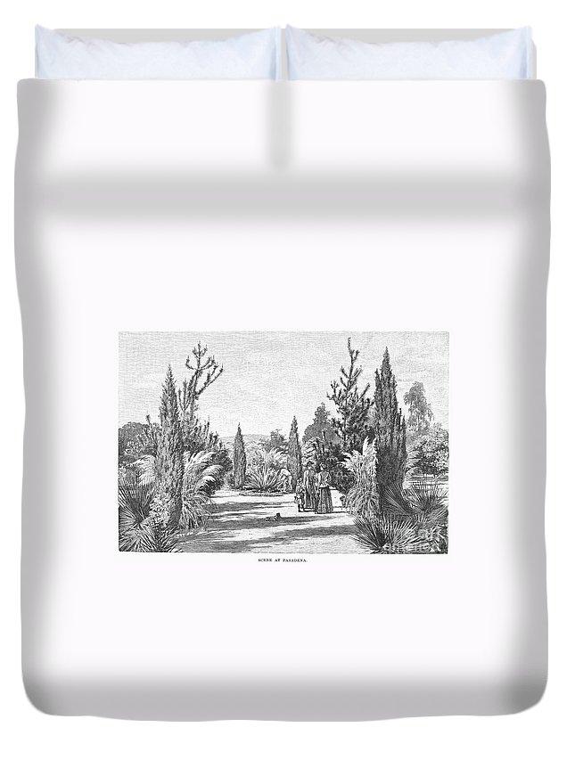 1890 Duvet Cover featuring the photograph California: Pasadena, 1890 by Granger