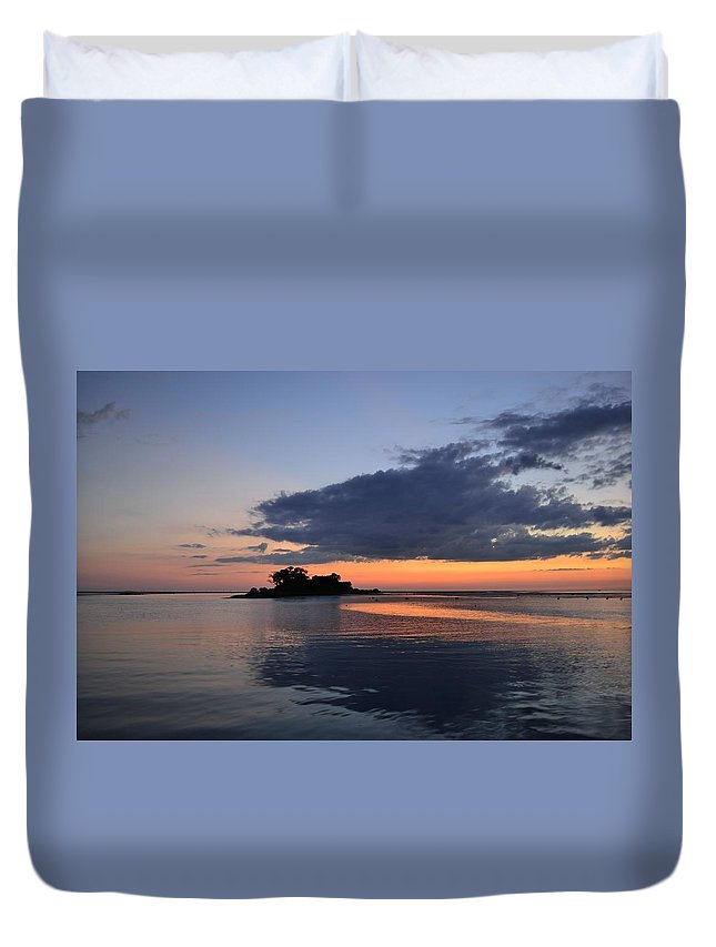 Gulf Duvet Cover featuring the photograph Calm by Kari Tedrick