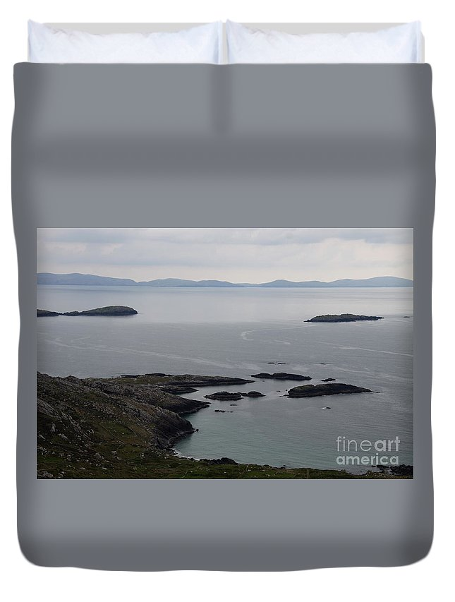Rock Duvet Cover featuring the photograph Calm Sea by Christiane Schulze Art And Photography