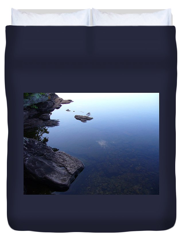 Calm Duvet Cover featuring the photograph Calm Waters by Shirley Radebach