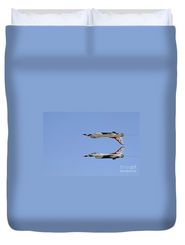 Usaf Duvet Cover featuring the photograph Calypso Pass by Tim Mulina