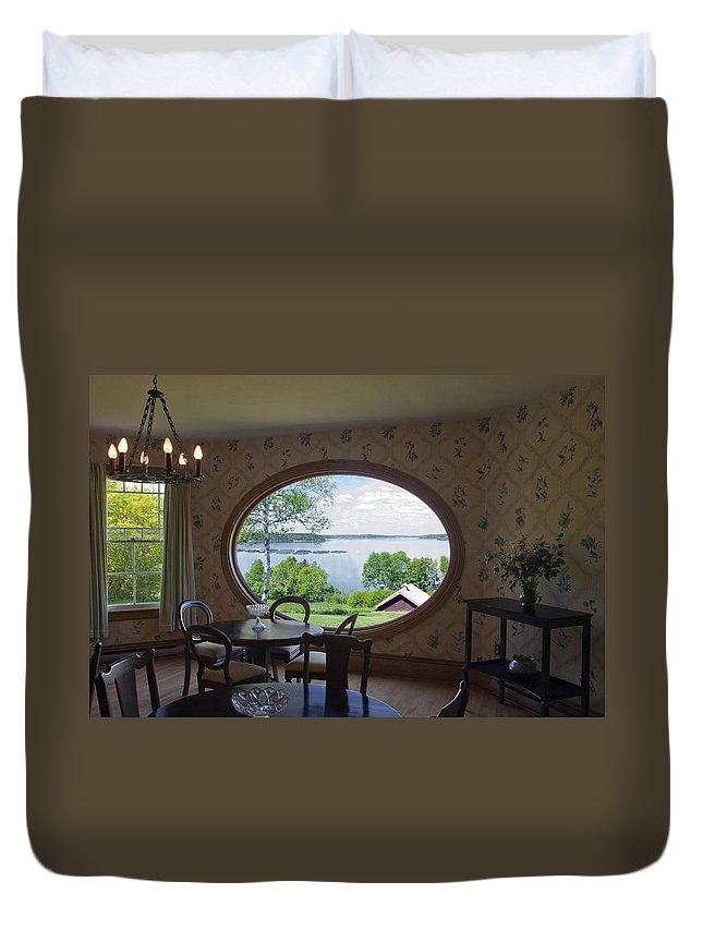 Campobello Island Duvet Cover featuring the photograph Campobello Island Roosevelts House by Glenn Gordon