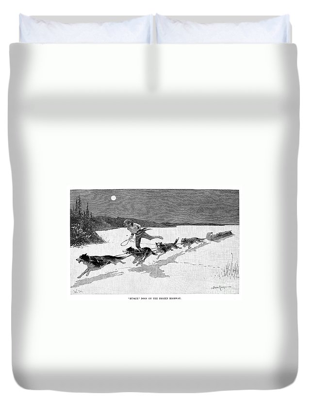 1892 Duvet Cover featuring the photograph Canada: Fur Trade, 1892 by Granger