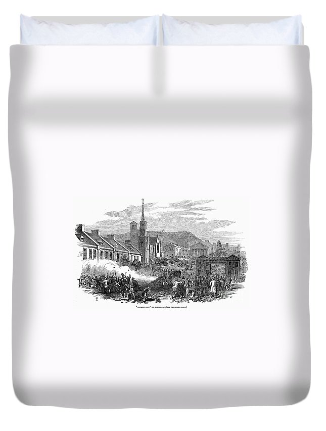 1853 Duvet Cover featuring the photograph Canada: Gavazzi Riot, 1853 by Granger