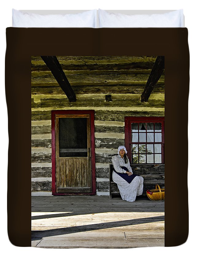 Grey Roots Museum & Archives Duvet Cover featuring the photograph Canadian Gothic by Steve Harrington