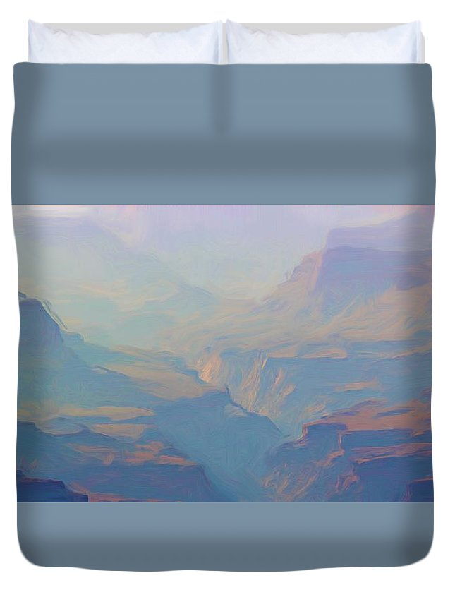 Grand Canyon Duvet Cover featuring the photograph Canyon Close Up by Heidi Smith