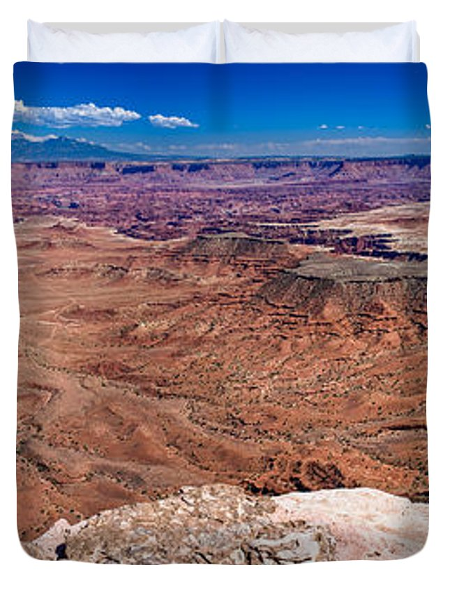 Canyonlands Duvet Cover featuring the photograph Canyon In Canyonlands by Greg Nyquist