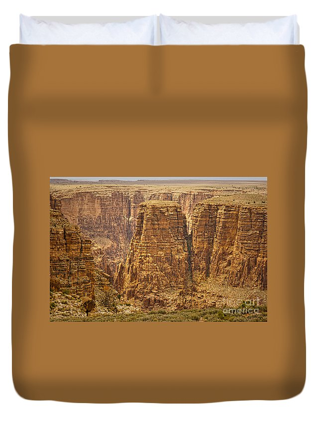Canyons Duvet Cover featuring the photograph Canyons by James BO Insogna
