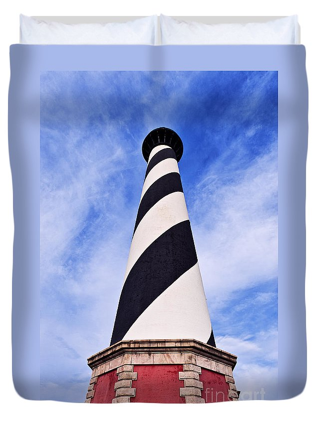 Cape Hatteras Lighthouse Duvet Cover featuring the photograph Cape Hatteras Lighthouse by John Greim