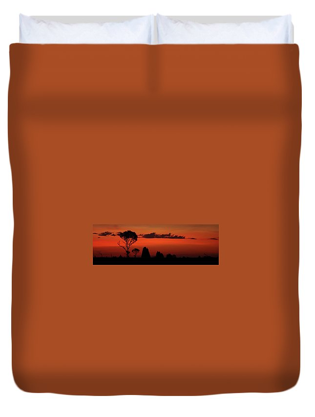 Sunset Duvet Cover featuring the photograph Cape York Sunset by Bruce J Robinson