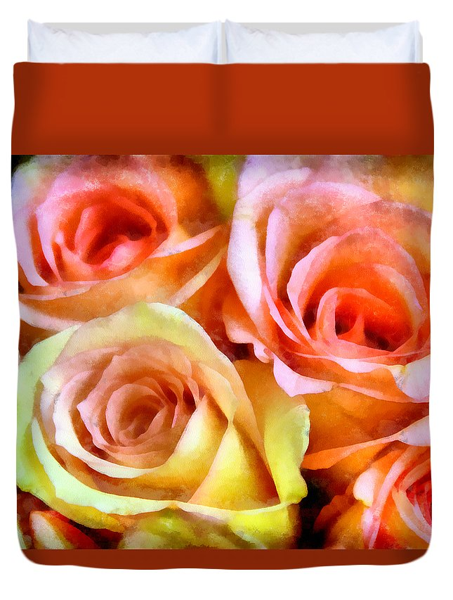 Caress Duvet Cover featuring the photograph Caressing by Angelina Vick