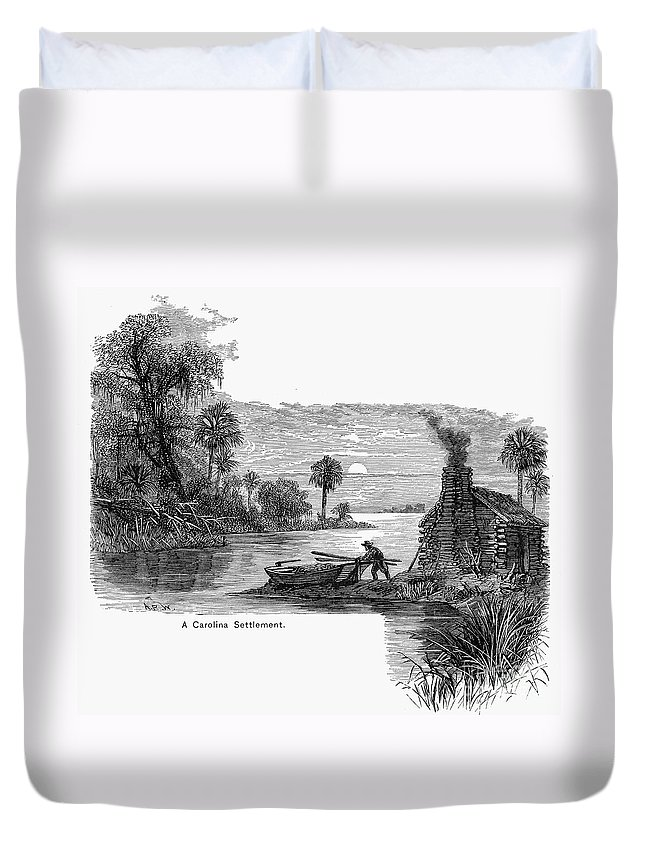 17th Century Duvet Cover featuring the photograph Carolina Settlement by Granger