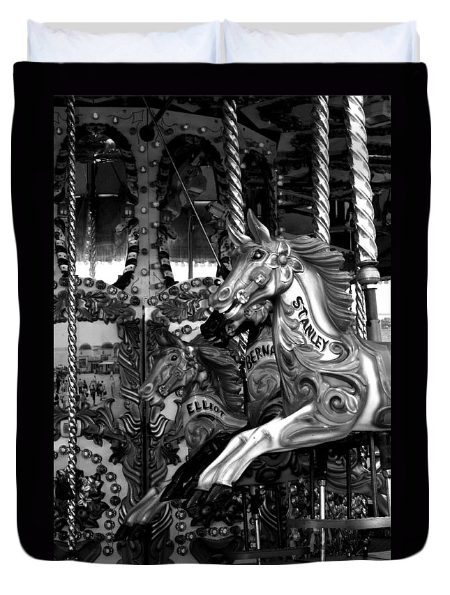 Carousel Duvet Cover featuring the photograph Carousel by Chris Day