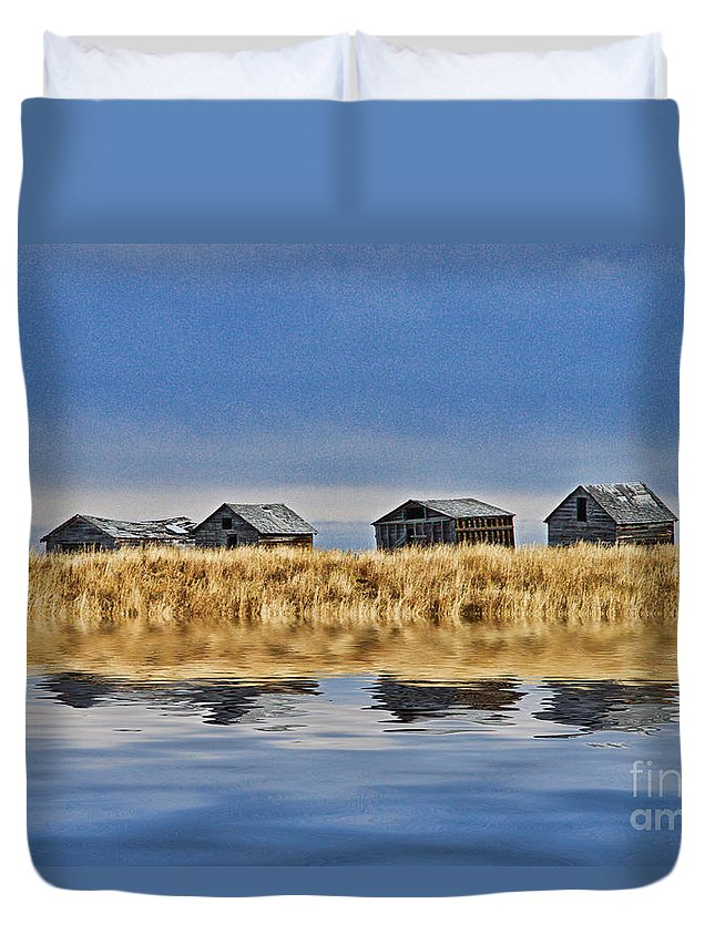 Landscapes Duvet Cover featuring the photograph Casc8480-11 by Randy Harris
