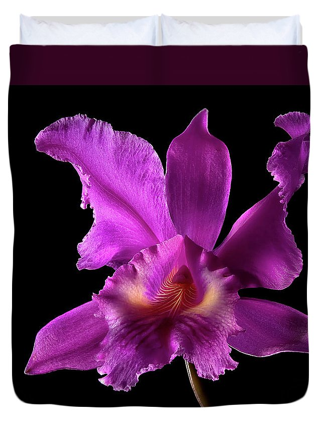 Flower Duvet Cover featuring the photograph Catalea Orchid by Endre Balogh