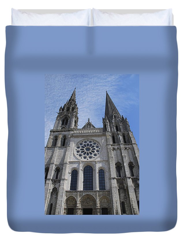 France Duvet Cover featuring the photograph Cathedral At Chartres by Eric Tressler