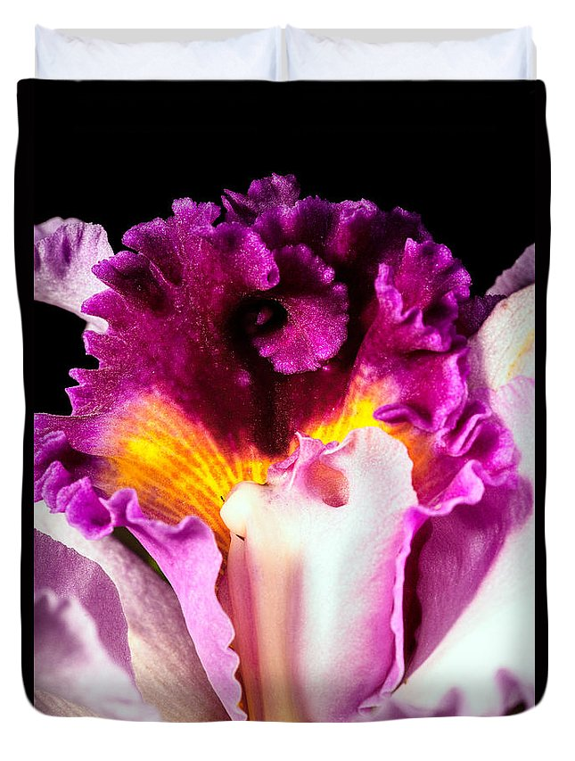 Orchid Duvet Cover featuring the photograph Cattleya II by Christopher Holmes