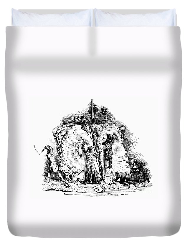 19th Century Duvet Cover featuring the photograph Censorship: Allegory by Granger