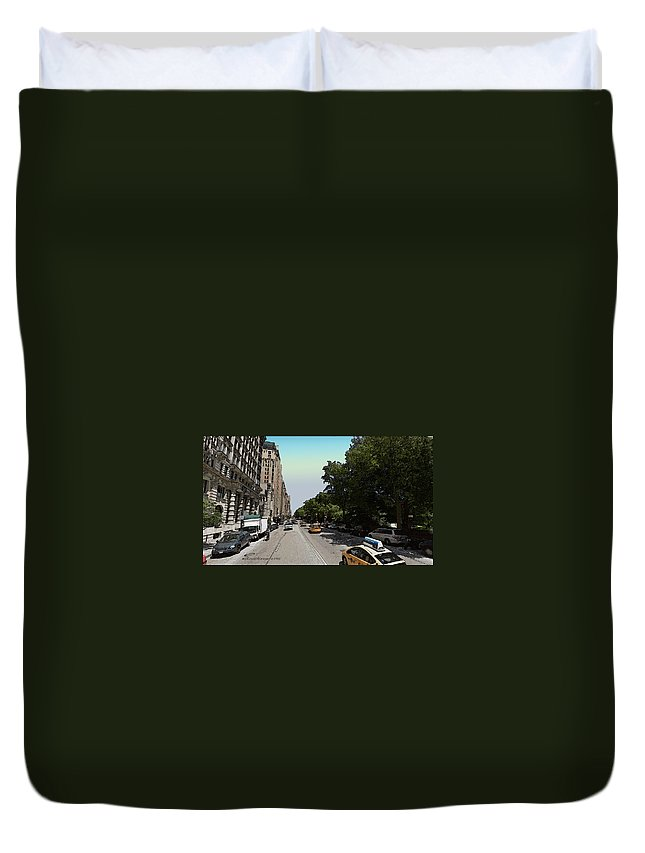 Nyc Duvet Cover featuring the photograph Central Park West by Ericamaxine Price