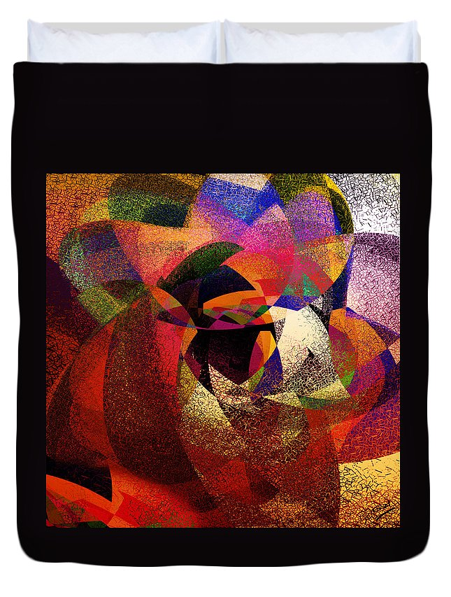 Abstract Duvet Cover featuring the digital art Chalk Face by Grant Wilson