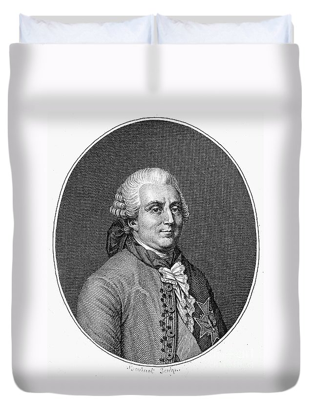 18th Century Duvet Cover featuring the photograph Charles De Vergennes by Granger