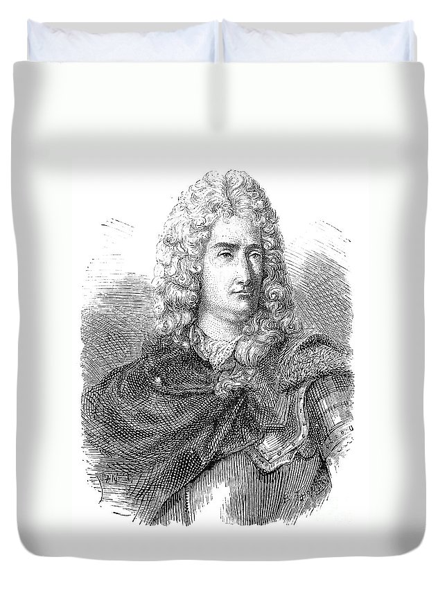 18th Century Duvet Cover featuring the photograph Charles-francois Du Fay by Granger