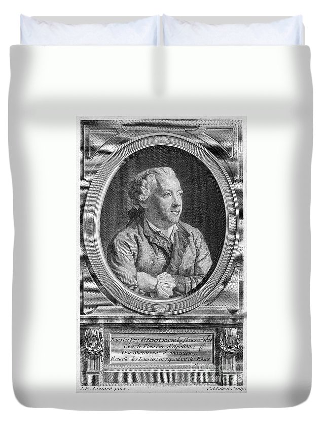 18th Century Duvet Cover featuring the photograph Charles Simon Favart by Granger