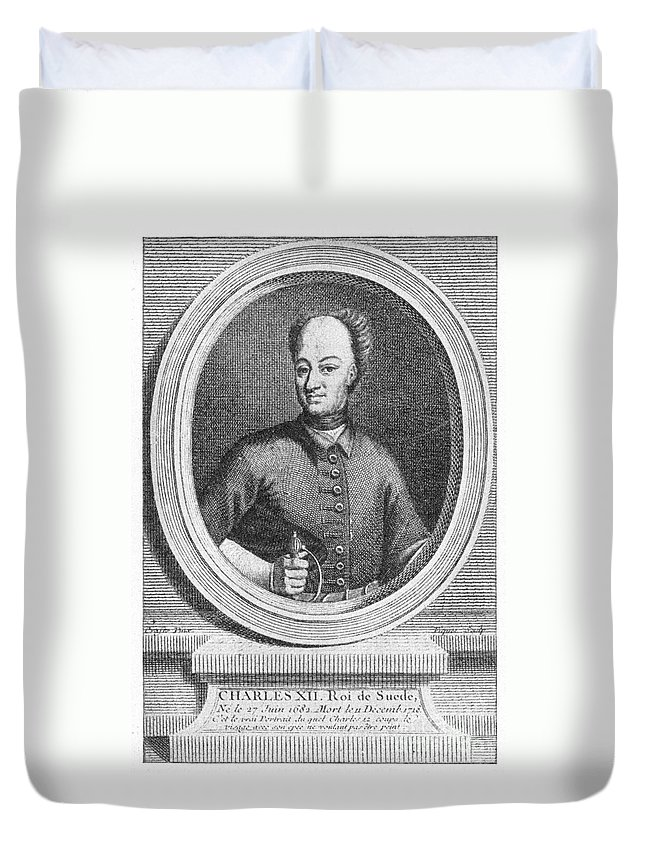 18th Century Duvet Cover featuring the photograph Charles Xii Of Sweden by Granger