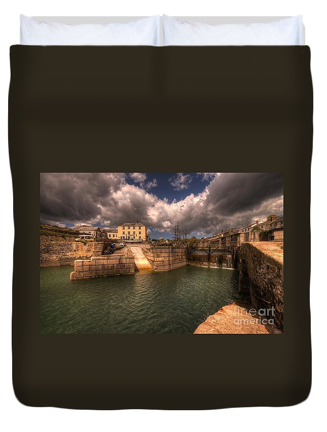 Charlestown Duvet Cover featuring the photograph Charlestown Harbour by Rob Hawkins