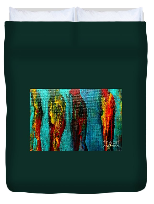 Man Duvet Cover featuring the painting Charlie by Claire Bull
