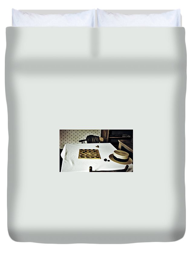 Street Photography Photographs Framed Prints Photographs Framed Prints Duvet Cover featuring the photograph Check Mate by The Artist Project
